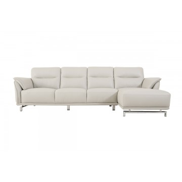 Carlo 4 Seater L-shaped Leather Sofa - Courts Megastore Exclusive
