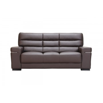 Hannah 3 Seater Leather Sofa - Courts Megastore Exclusive