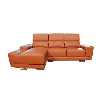Livia L-Shaped Leather Sofa