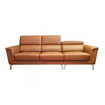 Silvia Normal Seater Leather Sofa